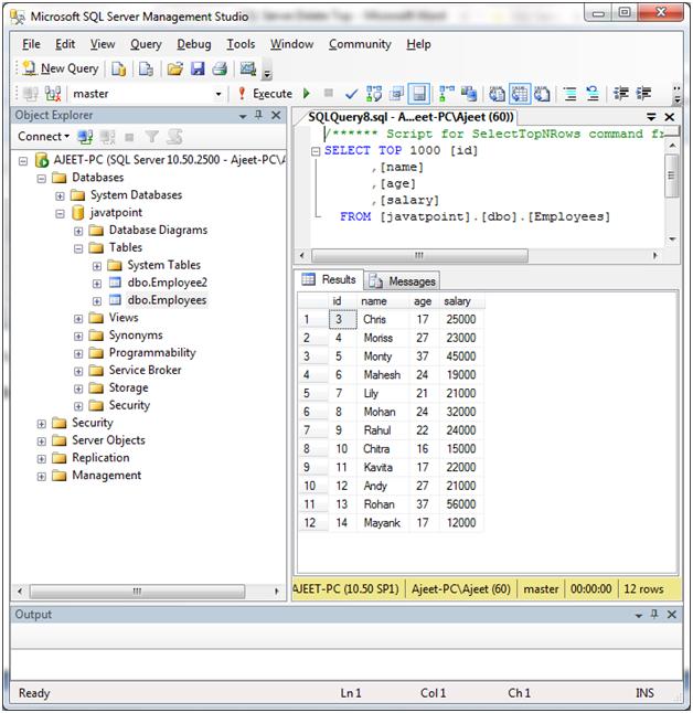 SQL Delete top statement 3