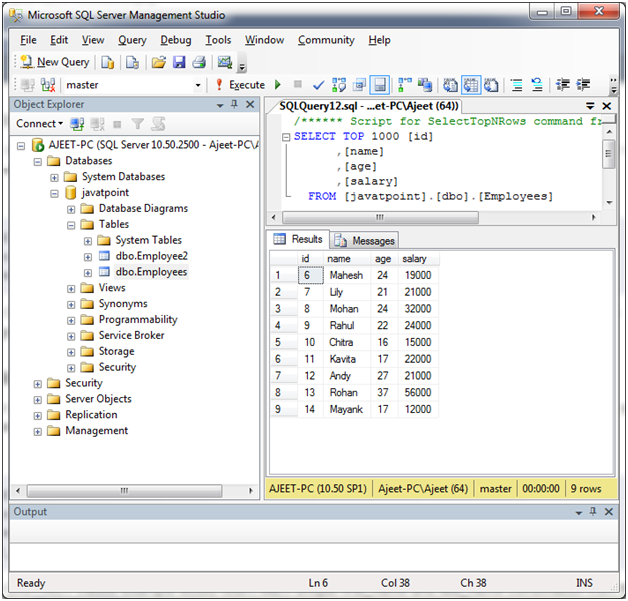 SQL Distinct clause 1