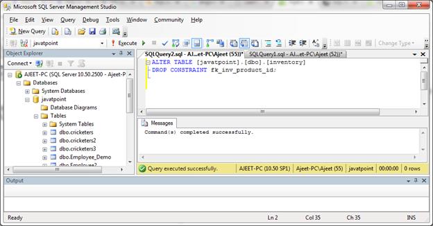 SQL Drop a foreign 1