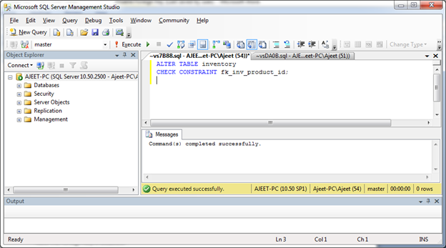 SQL Enable 1