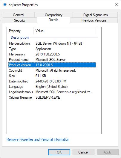 How to find SQL Server Version