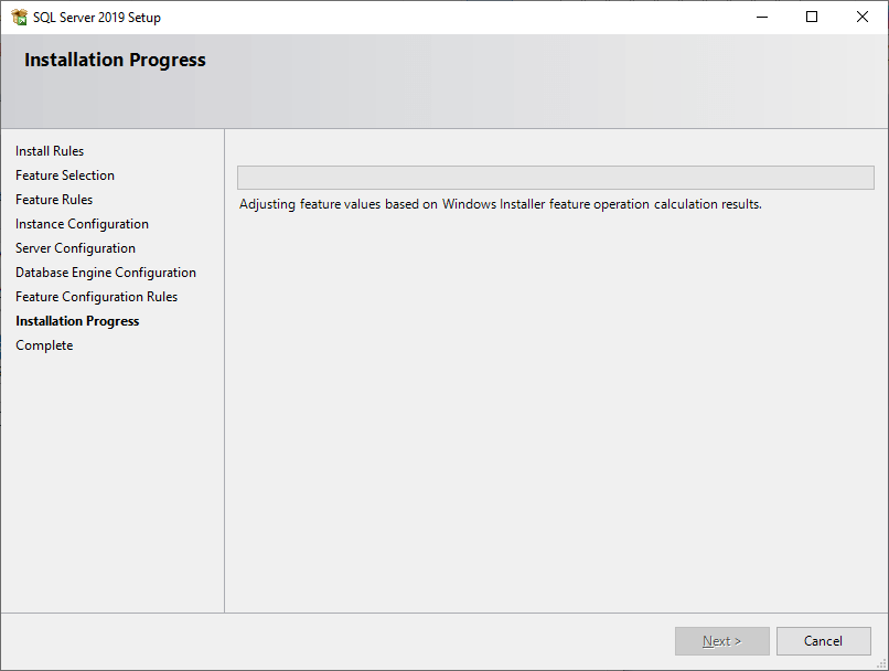 SQL Install ms sql server 13