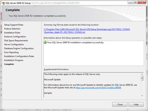 SQL Install ms sql server 18