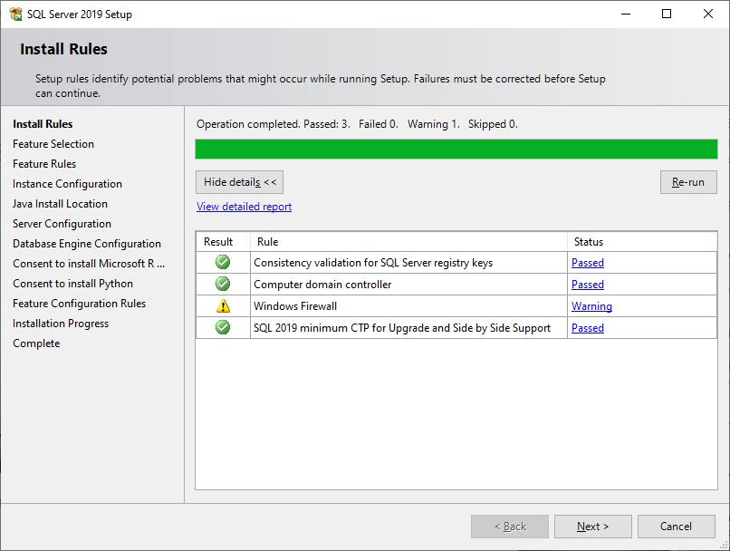 SQL Install ms sql server 9