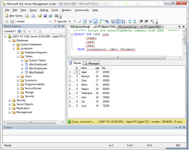 SQL Like 1