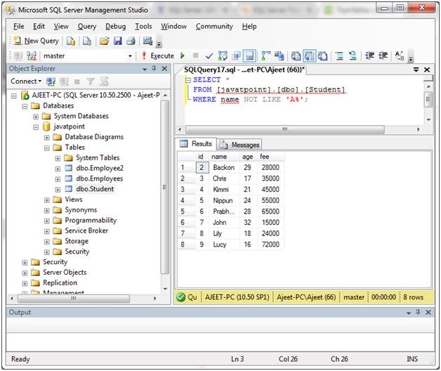 SQL Like 5
