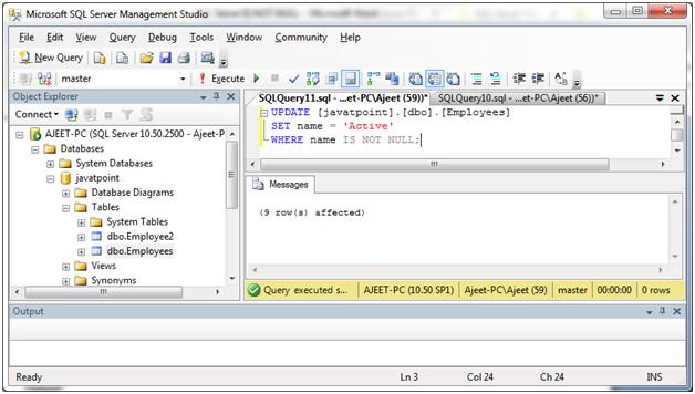 SQL Not null 3