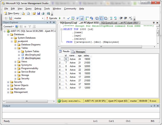 SQL Not null 4