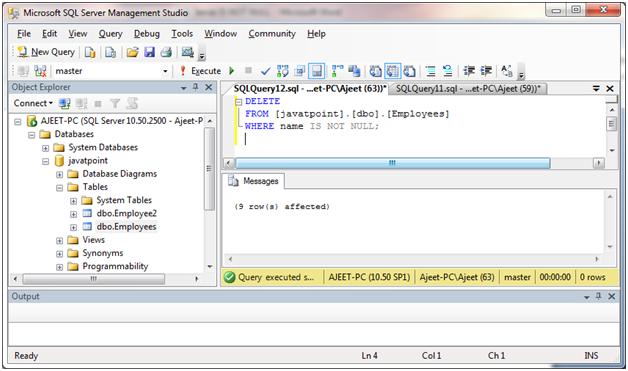 SQL Not null 5