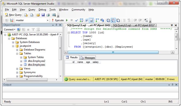 SQL Not null 6