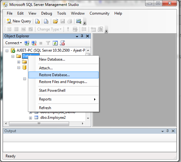 SQL Restore a database 1