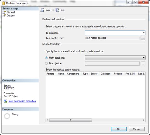 SQL Restore a database 2