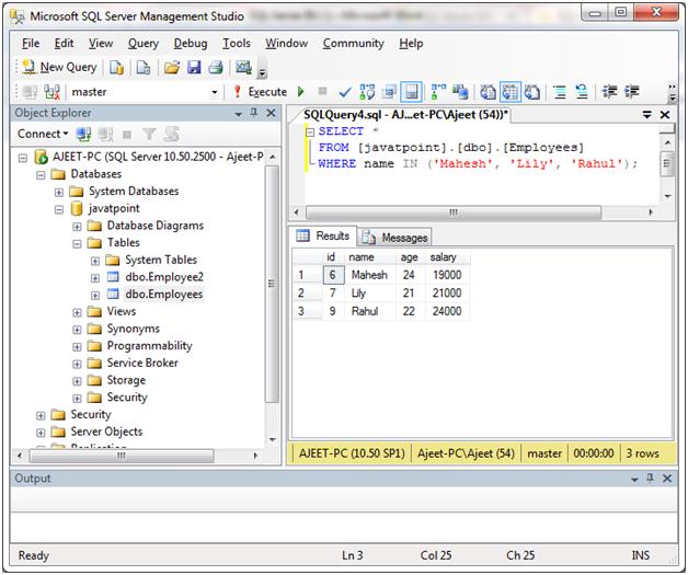 SQL Server in 1