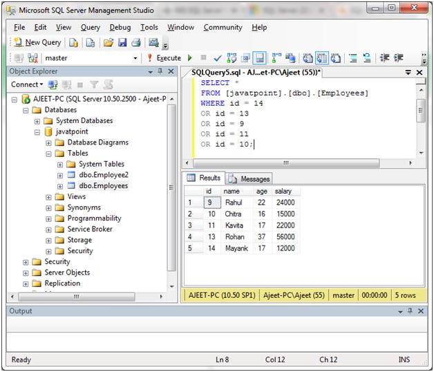 SQL Server in 4