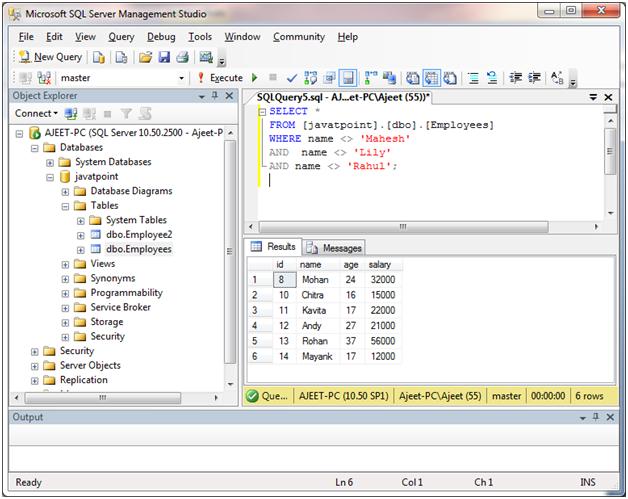 SQL Server in 6