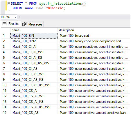 SQL Server Collation