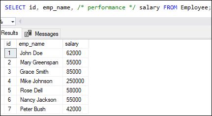 SQL Server Comments