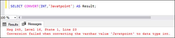 SQL Server CONVERT
