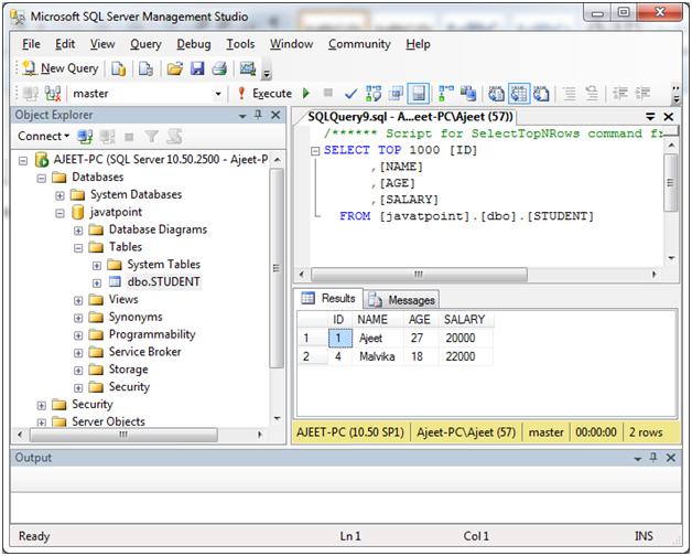 SQL server delete data 4