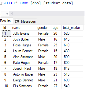 SQL server delete table 1