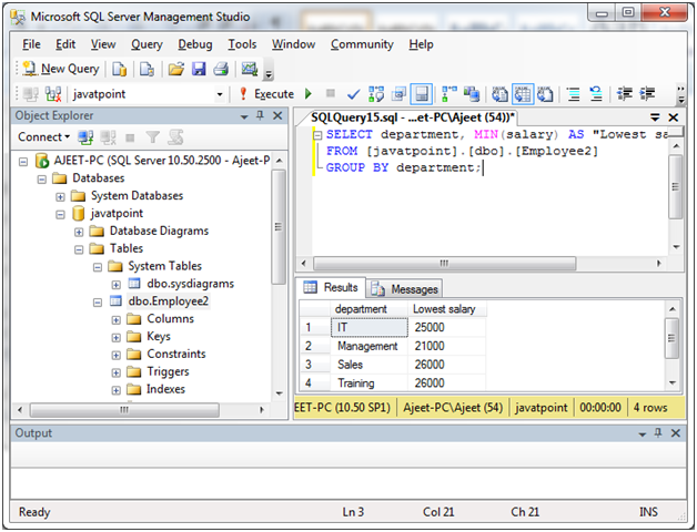 SQL server group by clause 5