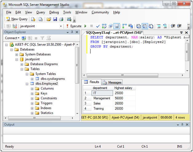 SQL server group by clause 6