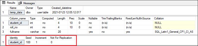 SQL Server IDENTITY
