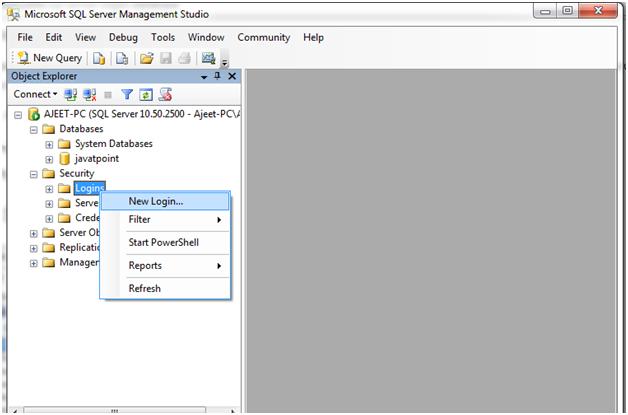 SQL server login database 3