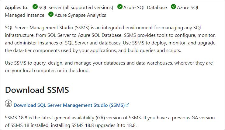 SQL server manaement studio 1