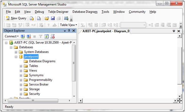 SQL server select database 1
