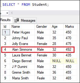 SQL server update data 2