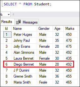 SQL server update data 3