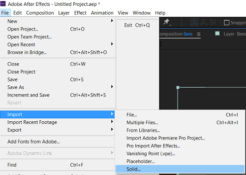 Adobe After Effect Layers