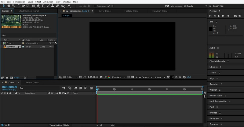 Group Layers In After Effect