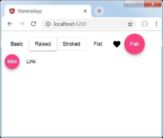Angular Material Buttons