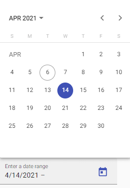 Angular Material Datepicker