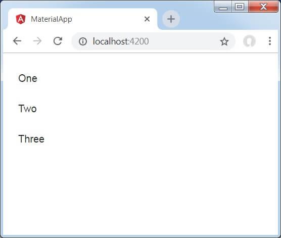Angular Material List