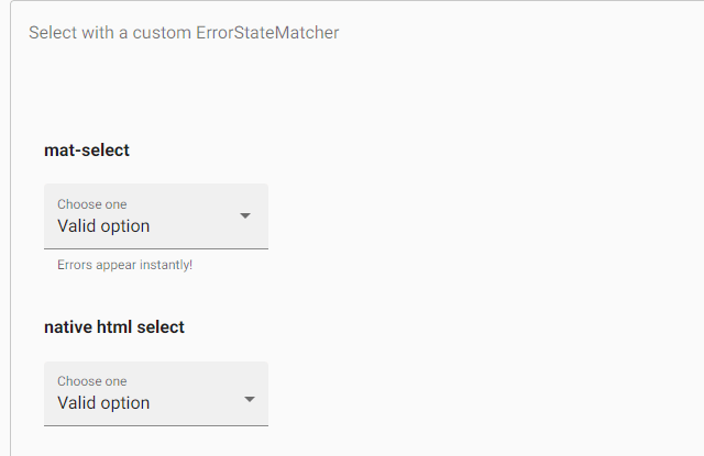 Angular Material Select
