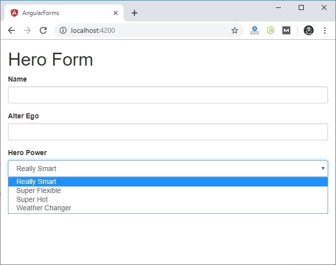 Template-driven Forms