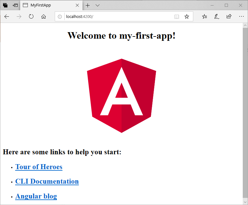 Angular 7 Project Setup (Create first app)