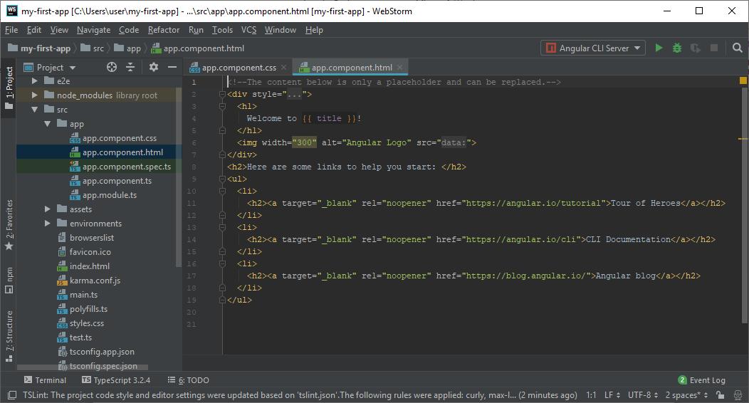 Angular7 Project Setup (Create first app)