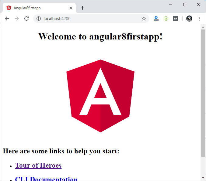 Angular 8 First App