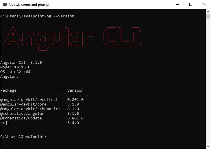 Angular 8 Installation
