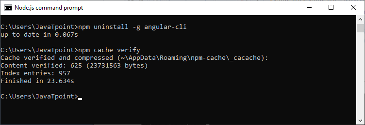 How to upgrade Angular CLI older versions to Angular CLI 8