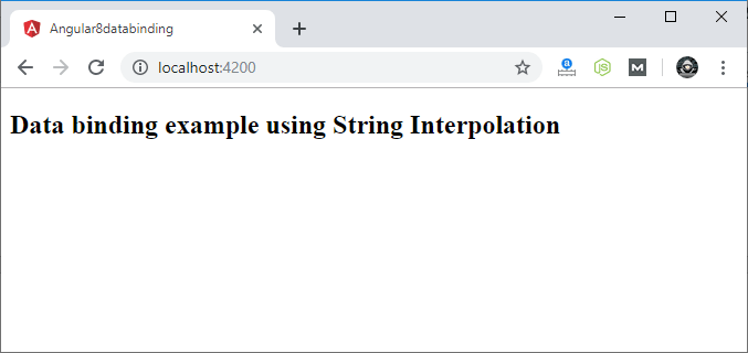 String Interpolation in Angular 8