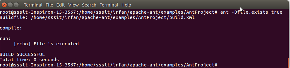 Apache Ant If and Unless