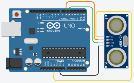 Arduino Ultrasonic distance sensor