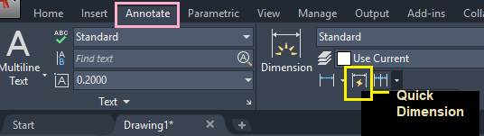 AutoCAD Dimensions