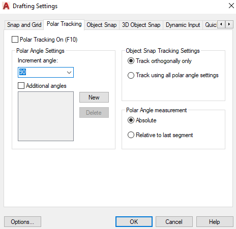 AutoCAD Drafting Settings