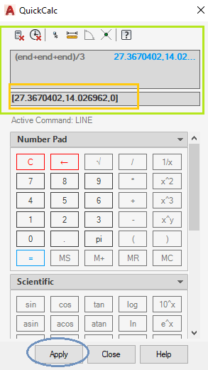 Examples of QuickCalc